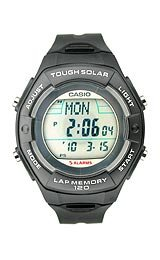 Casio Tough Solar Runner's 120-lap Memory Grey Dial Women's watch #LWS200H-1A