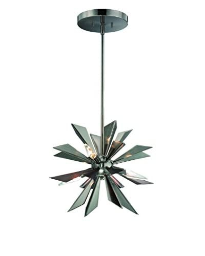 Gold Coast Lighting Galaxy 4-Light Mini Chandelier, Midnight Chrome