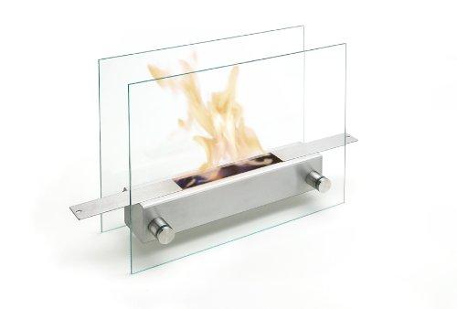 Carl Mertens 5960 1061 Apoll - Chimenea de etanol, fabricada en cristal y acero con acabado mate