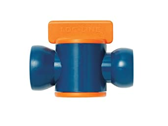Loc-Line Coolant Hose Component, Orange/Blue Acetal Copolymer, In-Line Valve