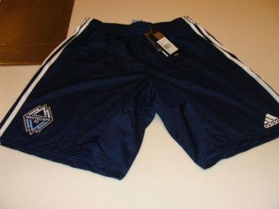 MLS Soccer Vancouver Whitecaps 2011 Clima Cool Dark Blue Training Shorts XL NWT - Men's NHL Shorts