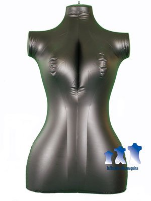 Inflatable Mannequin, Female Torso, Mid-Size Black