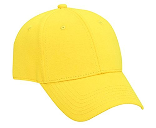 Hats & Caps Shop Jersey Knit Low Profile Pro Style Caps - Maize - By TheTargetBuys (Maize Fedora Hat)
