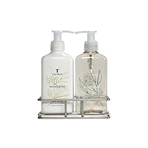 Thymes Indispensable Sink Set with Caddy, Eucalyptus