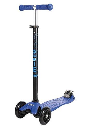 Micro Maxi - Patinete de 3 ruedas con barra T, color azul