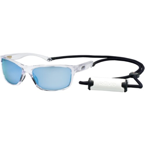 37c108a08e4 Revo Mens Harness RE4071 05 Polarized Iridium Sport Sunglasses Polished  Clear 55 mm