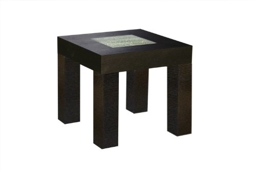 Cheap Diamond Sofa Modern Square End Table in Dark Walnut (L0727B)