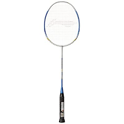 Li Ning SS 98 III Blue/Yellow Badminton Racquet with Blue T-Shirt, Small