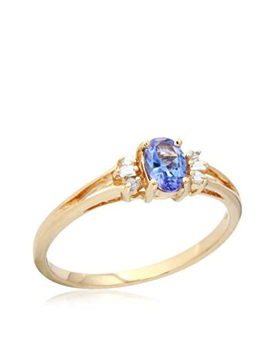 Fashion Strada Ladies 0.51CTW Tanzanite and Diamond 10K Ring