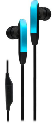 Ihip Ip-Prime-Nbl Flat Cord Earphones With In-Line Pause/Play Microphone For Ipad/Ipod Touch/Smartphones, Blue