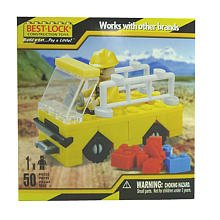 Construction Worker and Truck - 50 Pieces