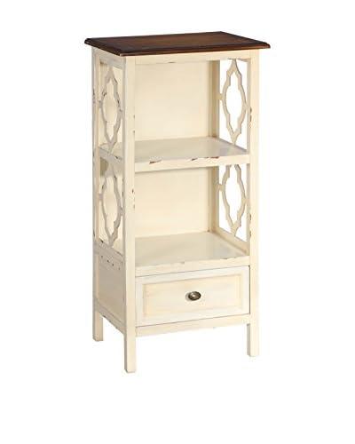 MANGORA Mueble Auxiliar Mueble Auxiliar Crema-Marrón 40 X 30 X 84 Cm