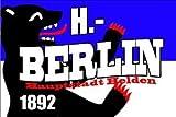 Berlin Hauptstadthelden Fussball Fahne Flagge Grösse 1,50x0,90m - FRIP -Versand®