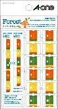 エーワン 手帳用シール インデックスシール フォレスト 05211【5セット】