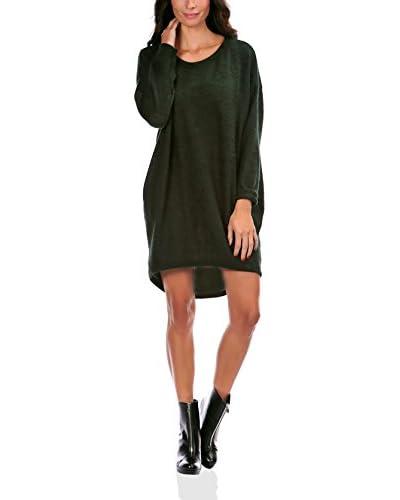 Mademoiselle à Paris Vestido Punto Elvira Verde