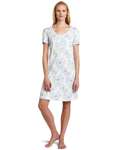 New innovation sleepwear to sale white orchid women 39 s for Sleep shirt short sleeve