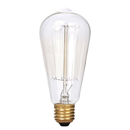 Ac 110-120V Vintage Tungsten Filament Antique Light Bulb E27 ST64