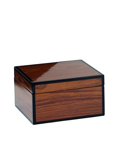 Torre & Tagus Small Lacquered Wood Grain Lined Box