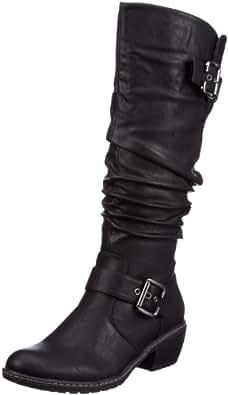 Rieker 90754-00, Damen Langschaft Stiefel, Schwarz (schwarz / 00), 36 EU (3.5 Damen UK)