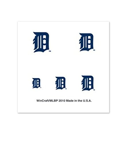 Detroit Tigers Fingernail Tattoos