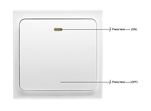 Light Switch Kit: ... Crelander Self-powered Waterproof Wireless Light Switch Kit On/off  Control Single Pole Wall ...,Lighting