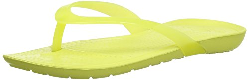Crocs Women's Really Sexi Flip-flop Women Chartreuse Rubber Flip-Flops and House Slippers - W6  available at amazon for Rs.1750