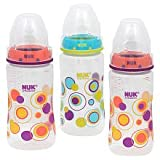 Nuk BPA Free 10 Oz Dots Bottles 3 Pack - Girl Colors