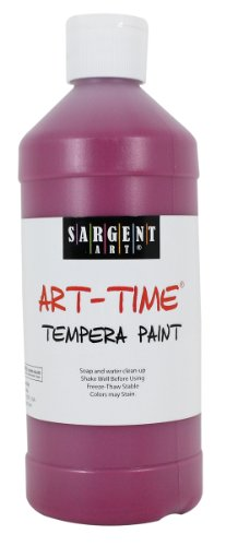 Sargent Art 22-6438 16-Ounce Art Time Tempera, Magenta - 1