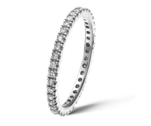 9ct White Gold 0.36ct Diamond Full Eternity Ring