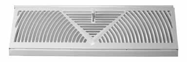 Truaire C118SW 18-Inch(Duct Opening Measurements) Floor Baseboard Supply 18-Inch Floor Baseboard Diffuser, White (Standard Floor Vent Covers compare prices)