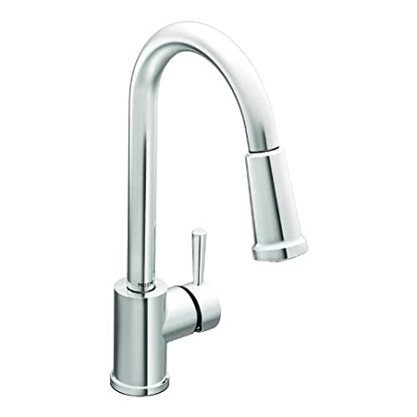 Moen 7175 Level One-Handle High Arc Pullout Kitchen Faucet, Chrome