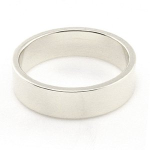 14K White Gold Men's & Women's Wedding Bands 5mm flat, 13.5