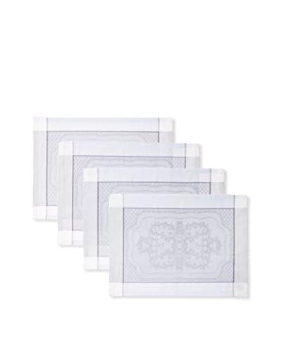 Garnier-Thiebaut Set of 4 Soubise Placemats, Albatre