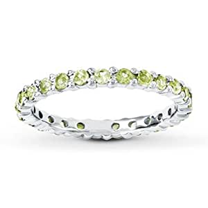 amazon   stackable ring peridot sterling silver