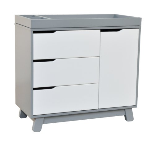 babyletto Hudson Changer Dresser, Grey/White