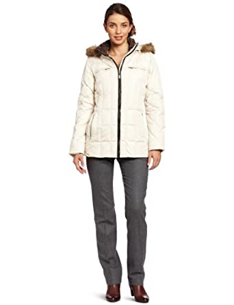 Larry Levine Women's Down Jacket with Hood 女士带帽羽绒服三色$67.5