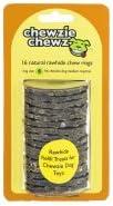 Chewzie Chewz Natural Rawhide Chew Rings B - 16 CT