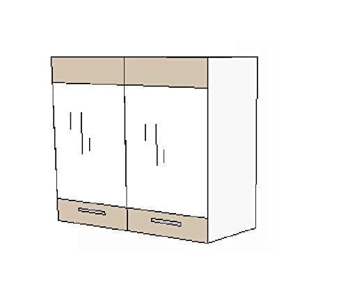 Kchen-Glashngeschrank-80-cm-fr-das-Modell-Dave-240-Eiche-Sonoma-Trffel