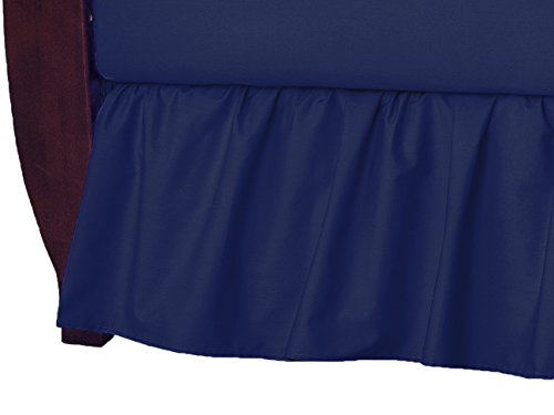buy American Baby Company 100% Cotton Percale Ruffle Crib Skirt, Navy for sale