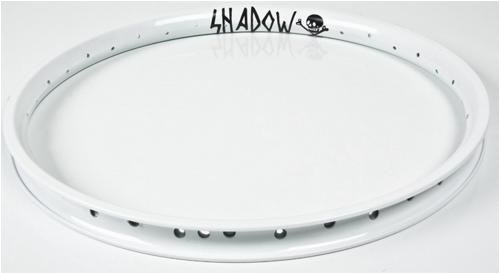 The Shadow Conspiracy Orbis BMX Bike Rims – White Powder Coat Finish