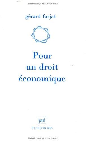 Pour un droit économique