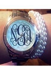 Stainless Steel Monogram Watch
