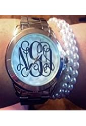 Stainless Steel Monogram Watch