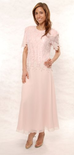 The Evening Store Great Tea Legnth Dress in Pink (small)
