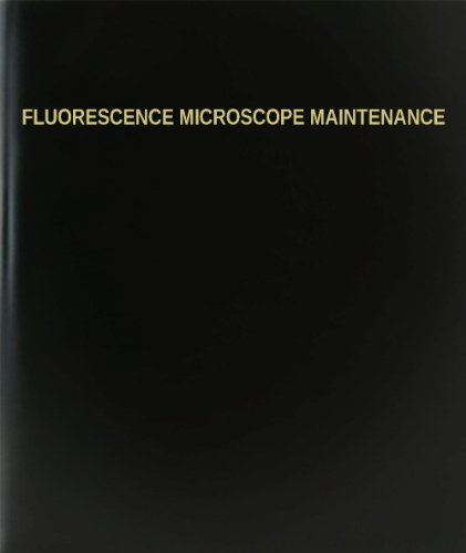 "Bookfactory® Fluorescence Microscope Maintenance Log Book / Journal / Logbook - 120 Page, 8.5""X11"", Black Hardbound (Xlog-120-7Cs-A-L-Black(Fluorescence Microscope Maintenance Log Book))"