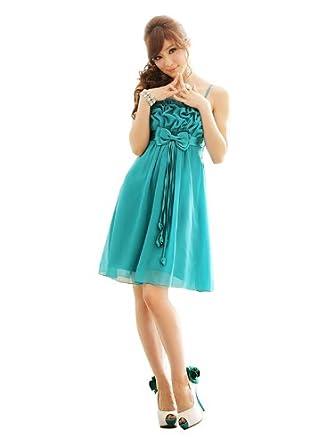 JK2 - Robe de cocktail Mousseline turquoise - Taille XXL