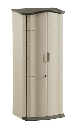 Rubbermaid Plastic Vertical Outdoor Storage Shed, 17-Cubic Foot (FG374901OLVSS) picture