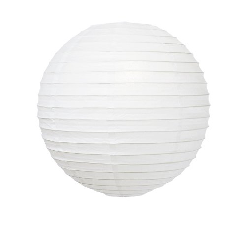 "WeGlow International 8"" Deluxe Paper Lantern - White (3 Pieces) - 1"