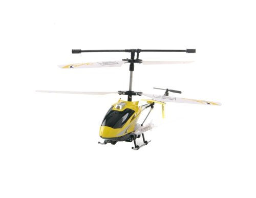 Toys Kingdom A001 3.5CH Infrared Mini RC Helicopter (Yellow)
