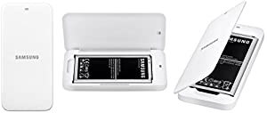 Samsung Battery with Charging Holder for Samsung Galaxy S5 - Retail Packaging - White
